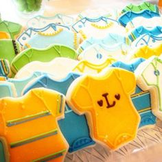 Cute baby boy shower!  I love the colors...not just all blue!