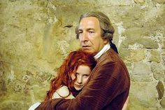 """2006 -- Alan Rickman as Antoine Richis with Rachel Hurd-Wood as his daughter in """"Perfume: The Story of a Murderer."""""""