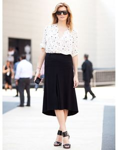 Street Style: Polka dots add interest to a simple look.