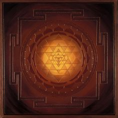 Golden Sri Yantra Mandala-
