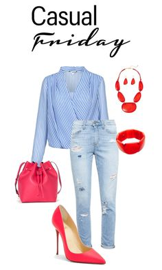 """Untitled #37"" by rowe-gal ❤ liked on Polyvore featuring Paige Denim, Christian Louboutin, Sole Society, Until Theres A Cure and casual"