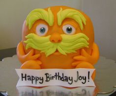 The Lorax cake. Made by Eat Cakes, http://www.facebook.com/eatcakesiowa