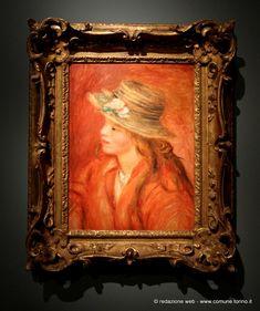Bambina con cappello di paglia, 1908 circa. #Renoir #GAM #Torino