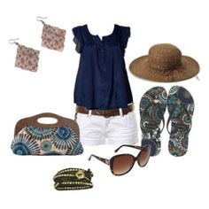 Cute casual summer outfit shirt and shorts