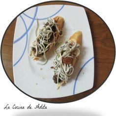 La Cocina de Adita: Tapa de morcilla, con gulas
