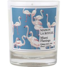 MAISON LA BOUGIE Miami flamingo scented candle (60 AUD) ❤ liked on Polyvore featuring home, home decor, candles & candleholders, candles, decor, filler, flamingo candles, fragrance candles, miami home decor and eucalyptus scented candles