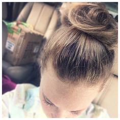 My attempt at a messy topknot