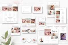Newborn Photography Marketing Set - Newborn Photographer Branding - Pricing Guide - Trifold Brochure - Mini Sessions - INSTANT DOWNLOAD by ByStephanieDesign on Etsy