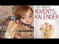 DIY Gewinne Adventskalender zum Hinhängen aus Haushaltsdingen bis 27.11. -alive4fashion - YouTube