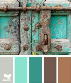 Color Locked color palette by Design Seeds Design Seeds, Colour Schemes, Color Combos, Colour Palettes, Color Trends, Sweet Turtles, Colour Board, Western Decor, Western Theme