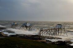 Rafale à plus de 100 km/h sur le littoral #saintpalaissurmer #royan #storm #charentemaritime #tempete #mer #ocean #sea #carrelet  #sky