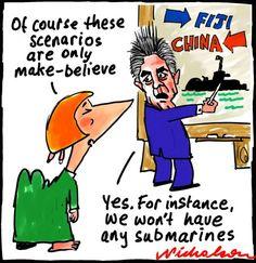 Defence contingency Fiji China make-believe submarines    Nicholson 14 June 2012