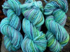 Handspun yarn, Handpainted Merino Wool Yarn thick and thin free -CIRCE by Yarnachy on @Etsy