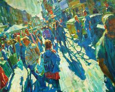 Brick Lane Crowds by Hashim Akib Sketchbook Inspiration, Painting Inspiration, Art Inspo, Beautiful Fantasy Art, A Level Art, Art And Illustration, Illustrations, Elements Of Art, Imagines