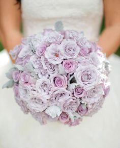 Stunning lavender rose bridal bouquet - Belle the Magazine .