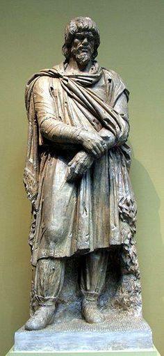 Captive Dacian. Cast in Pushkin museum after original in Lateran Museum. Roman. Early II century, CE.