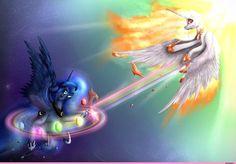 my little pony,Мой маленький пони,фэндомы,mlp art,Princess Luna,принцесса Луна,royal,Solar Flare,Солар Флер, Daybreaker,minor,mlp sad