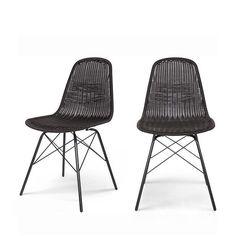 Lot de 2 chaises indoor/outdoor en résine tressée Clarice DRAWER
