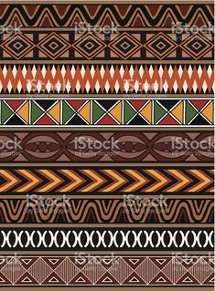 African Culture Stok Videolar ve Detay Görüntü African Tribal Patterns, African Textiles, Ethnic Patterns, Tribal Pattern Art, African Drawings, African Art Paintings, Arte Tribal, Aztec Art, Cultural Patterns