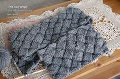 바구니 목도리뜨기!-목도리뜨개질 남자목도리 : 네이버 블로그 Chrochet, Blanket, Sewing, Knitting, Crochet, Crocheting, Dressmaking, Couture, Tricot