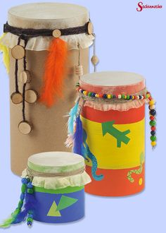 First build, then drum as much as you can. You can find it here: shop. Summer Crafts, Diy And Crafts, Arts And Crafts, Diy For Kids, Crafts For Kids, Music Theme Birthday, Wild West Party, Diy Y Manualidades, Indian Crafts