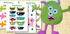 Looking for something to keep little hands busy? Try this adorable Build A Monster Free Printable! Summer is here and we're up to our eyeballs in projects at my house! In fact, I decided to g… Fall Crafts, Halloween Crafts, Crafts For Kids, Printable Crafts, Free Printables, Make Your Own Monster, Fall Preschool, Cool Art Projects, Monster Party