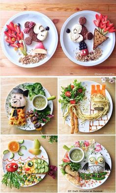 Food Art on The Plate.