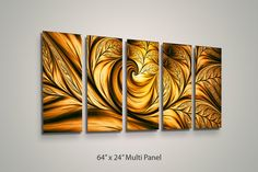 Metal Wall Art Canvas Abstract Modern Contemporary by LuxWallArt, $59.99