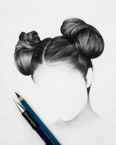 Pin by edina on drawing in 2019 draw, hair illustration, hair sketch. Pencil Art Drawings, Art Drawings Sketches, Hair Drawings, Realistic Hair Drawing, Double Hair Buns, Pelo Anime, Hair Illustration, Hair Sketch, Hair Reference