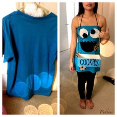 Quick and easy DIY Cookie Monster costume....must do for next halloween!! so simple