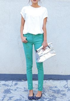 21 Stylish Ways To Wear A Plain White T-Shirt This Summer | StyleCaster