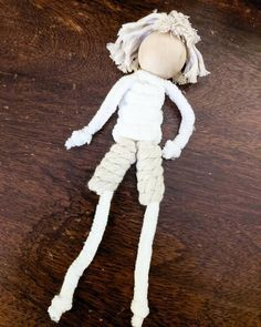 Handmade Macrame Doll   Etsy Felt Christmas Ornaments, Christmas Decorations, Crafts For Kids, Children Crafts, Clothes Pegs, A Hook, Sewing Toys, Boy Doll, Projects To Try