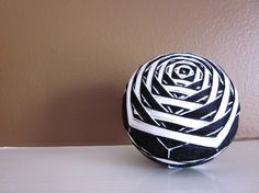 Very cool design! Temari decorative ball modern home decor hand by julieandco, $50.00
