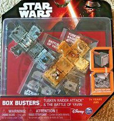 Lot de 2 Disney Star Wars Box Busters Battle of Hoth /& Battle Of Yavin New