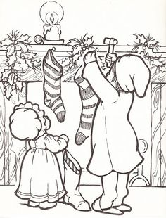 Christmas coloring page                                                                                                                                                      More