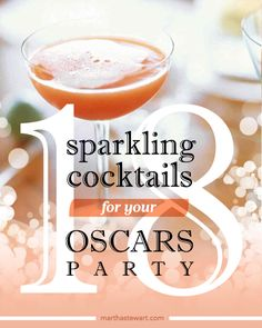 Adding champagne instantly elevates the occasion -- especially when you're celebrating one of the classiest nights in Hollywood.