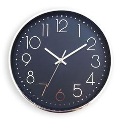 Horloge silencieuse - Ø 20 cm - Plastique et verre - Gris argenté - Achat / Vente horloge - pendule Plastique et verre minéral - Soldes* dès le 27 juin ! Cdiscount