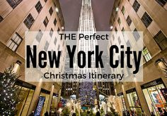 Heading to NYC during the holidays is magical! Follow this plan to see many of the classic and popular New York City Christmas attractions!