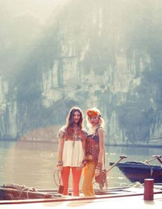 blonde, boat, boho, brunette - inspiring picture on Favim.com
