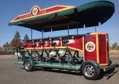 """Cycle Pub bike sales and tours in Bend, Oregon. Experience the best of Bend pubs, bars, and restaurants. Riders pedal this multi-passenger """"bike"""". Bend, Central Oregon, Portland Oregon, Beer Bike, Soup Company, Towing And Recovery, Ford Edge, Bikes For Sale, Oregon Travel"""