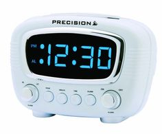 #Precision #radio #controlled retro led display alarm clock, white/ blue,  View more on the LINK: http://www.zeppy.io/product/gb/2/161951664943/