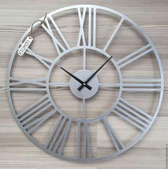 """Купить Часы 50 см из нержавейки """"Rooma-aisi"""" - часы, часы из нержавеющей стали"""