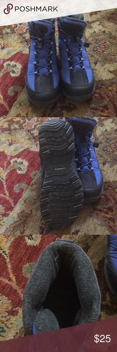 Lands end snow boots Blue waterproof snow boots Lands' End Shoes Winter & Rain Boots
