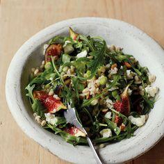 Barley Salad with Figs and Arugula - Fitnessmagazine.com
