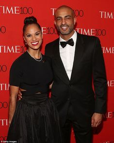 Here comes the bride: Misty Copeland, 32, and her fiancé Olu Evans, struck a pose at the 2015 Time 100 Gala in April. The dancer confirmed their engagement in the September 2015 issue of Essence, which she covers