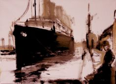 Whistler and the Titanic  oil on canvas- 16 x 20 inches  Studio Ridyard  2013