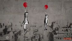 Banksy - Syria if only this could happen ~ the children escaping to freedom! Street Art Banksy, 3d Street Art, Urban Street Art, Best Street Art, Amazing Street Art, Street Artists, Urban Art, Amazing Art, Arte Banksy