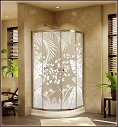 Bring your favorite tropical getaway home with the Tropical Oasis privacy window film. The lush tropical foliage has varying degrees of white printed on a Lite Frosted background giving the tropical l