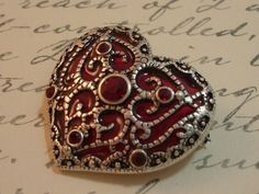 Your place to buy and sell all things handmade Beaded Jewelry, Unique Jewelry, Jewelry Ideas, Shades Of Burgundy, Heart Day, Be My Valentine, Favorite Holiday, Heart Shapes, Cuff Bracelets