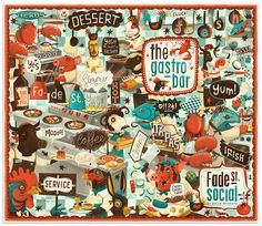 Menu Cover by Steve Simpson, via Behance